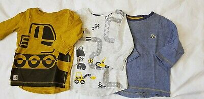 3 X Baby Boy Long Sleeve Tops Next. Age 6-9 Months
