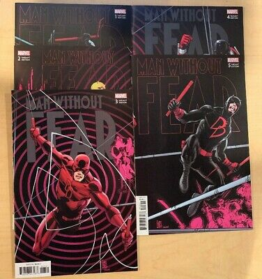 Man Without Fear #1 - #5 Connecting Variant Set Marvel Comics 2019