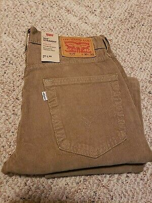 27205321 Levi's Jeans 514 Corduroy Pants Stretch Straight Below Waist Brown Sz 30x30  NWT