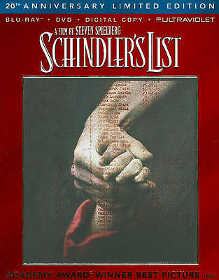 Schindlers List (Blu-ray, 2013, 2-Disc Set, 20th Anniversary)