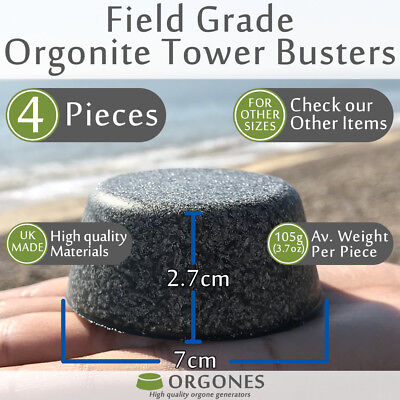 4x Orgonite Tower Busters TBs made with amethyst rose quartz crystals aluminium