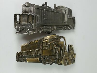 The Great American Buckle Train Belt Buckles 2-Pieces 1980