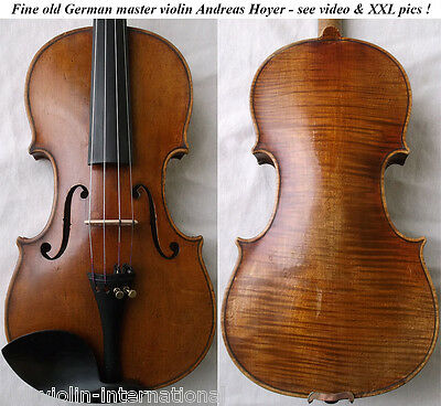 OLD GERMAN 18th C VIOLIN ANDREAS HOYER - video- ANTIQUE MASTER バイオリン скрипка 870