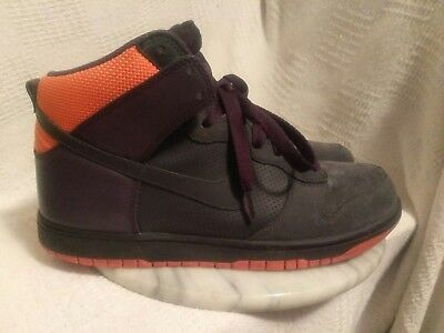 buy online 78b9f 3a21b Nike Dunk High Anthracite-Abyss-Orange Blaze Shoes Men s size 10 M 317982  002