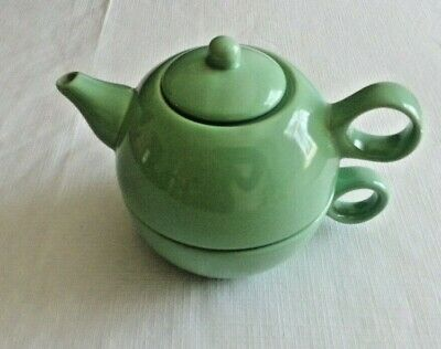 Old Amsterdam Porcelain Works Tea-For-One Set - Seafoam Green
