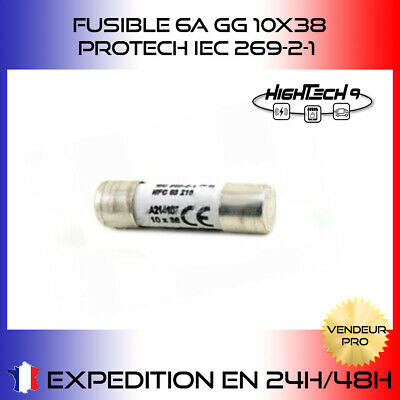 FUSIBLE PROTECH 10 x 38mm Fusible GG 6A 500v NF C63-210