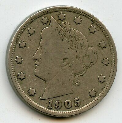 1905 Liberty Head Nickel - .05 Cent United States Coin