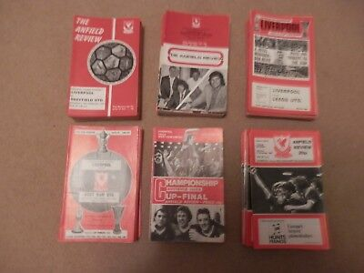 Lot Collection 126 Liverpool Home Anfield Programmes 1970s 6 seasons Keegan Dalg