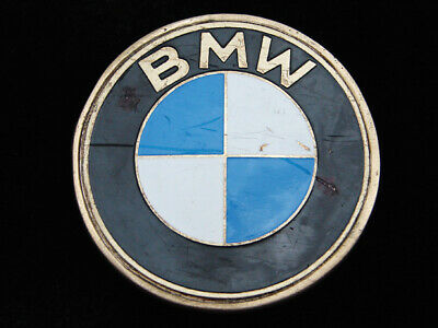 QF07170 VINTAGE 1970s **BMW** CAR & AUTO COMPANY SOLID BRASS BARON BELT BUCKLE