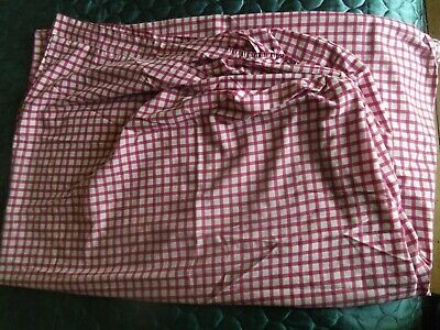 USED but Lovely! Double Fitted sheet Purple check  Good condition