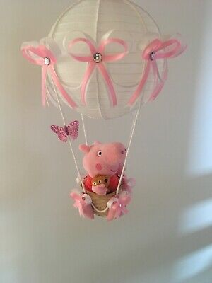 peppa pig hot air balloon lightshade Lampshade for children's bedroom baby gift