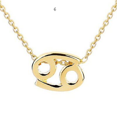Necklace Alloy Gold 12 Constellation Pendant With Message Cards New Jewelry Gift