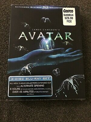 Avatar (Blu-ray Disc, 2010, 3-Disc Set, Extended Collectors Edition) Brand New