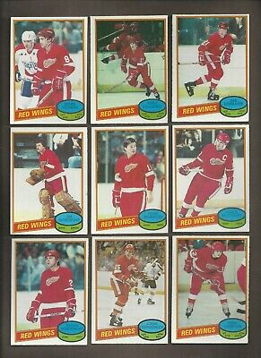 1980-81 🔥 OPC RED WINGS Set (15) Ogrodnick RC 🔥O Pee Chee NM-MT Hockey Card