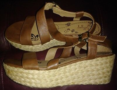 eb0087dfc7a3b JELLYPOP TAHOE PLATFORM Wedge Sandals - Women's Size 95 M - Brown ...