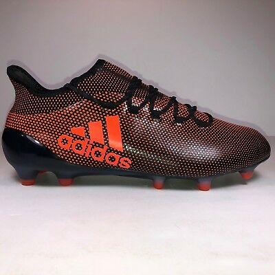 quality design bcc7f 9b876 ADIDAS MENS SIZE 7 X17.1 FG Black & Solar Orange Soccer ...