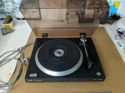 Vintage Phillips 577 Turntable, Vintage Record Player, Needs New Belt