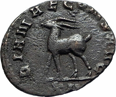 GALLIENUS Genuine 267AD Rome Authentic Ancient Roman Coin w ANTELOPE i74835