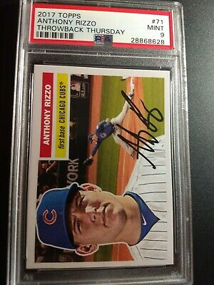 2017 Topps Throwback Thursday 71 Anthony Rizzo PSA 9 Mint