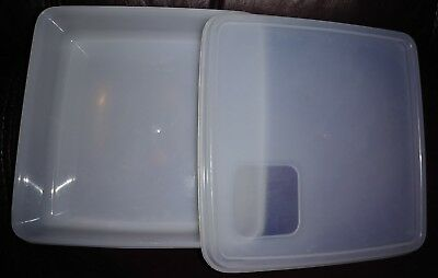 Vintage Tupperware #670 Sheer Square-A-Way Sandwich Keeper Container W/ Lid