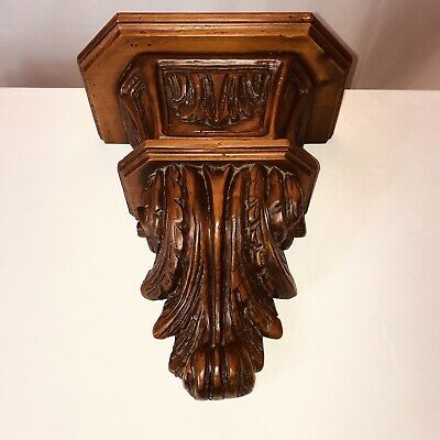 "ORNATE ACANTHUS LEAF & SCROLLED DECORATIVE WALL SHELF, 12"" Wide."