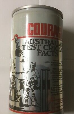 Courage Draught Test Cricket Facts Beer Can. Record Partnership