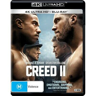 Creed II 4K UHD + Blu-ray, 2-Disc Set, BRAND NEW Rocky Sylvester Stallone