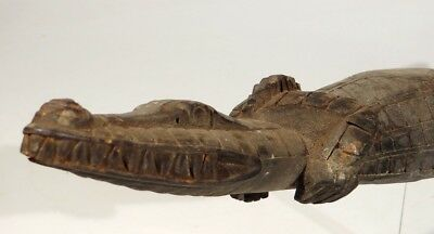 Old Middle Sepik Crocodile Papua New Guinea Tribal Carved Png