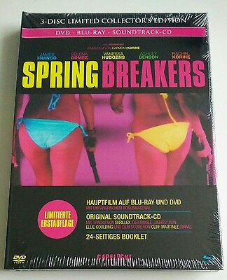 Spring Breakers | Blu-Ray Collectors Edition Mediabook DVD Soundtrack-CD NEW NEU