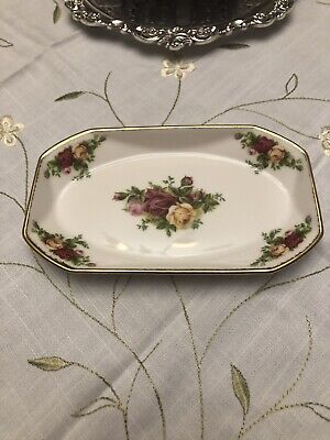 1st Qlty EC Royal Albert Old Country Roses Octagonal Tray / Dish England