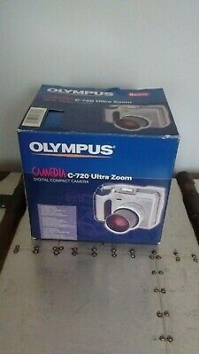 Olympus C-720 Ultra Zoom Digital Compact Camera, black case & strap, manual