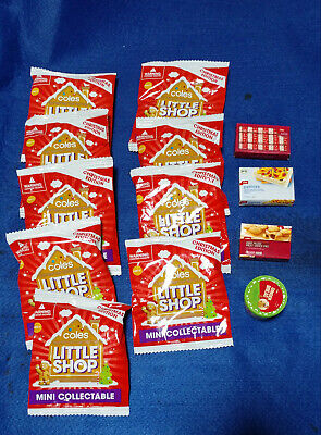 Coles Little Shop Christmas Edition Minis Collectables 9 Unopened 4 Opened