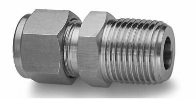"""3/8"""" OD Tube x 1/8"""" MNPT Tube Fitting 316ss Male Connector SSP ISSG6MC2"""