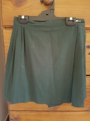 Girls Sports Uniform skirt  ... Bottle green ...  Size 12/14