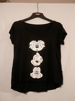 Disney Mickey Mouse Hear no Evil, See no Evil, Speak no Evil woman's shirt M