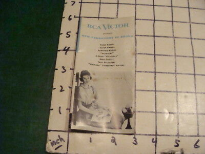 Vint. Orig. RCA VICTOR Catalog - new sensations in sound -16 pgs - 1950's or 60s