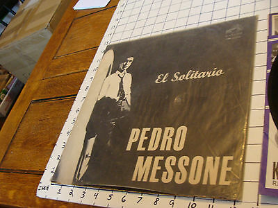 vintage Record: PEDRO MESSONE el solitario rca victor CML-2396 filled with writt