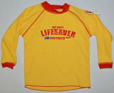 New - SLSA Kids Long Sleeve Rash Vest Swimming Rashie Long Sleeve - Size: 8