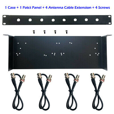 1U Rack Mount Shelf 19'' WithPosition Hole for Different Wireless Mic Receivers