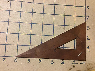Vintage Original -- early wooden RIGHT TRIANGLE - DEVOE #6 missing one peg