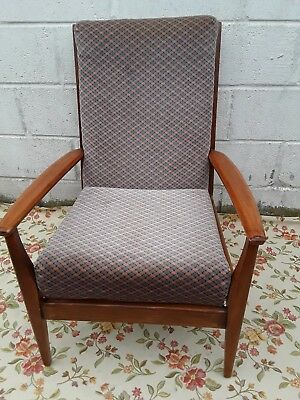 Vintage Retro Mid Century Danish Style Cocktail Lounge Arm Chair