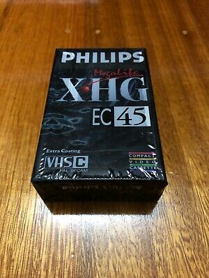Phillips XHG EC45 VHS Extra Coating Camcorder Cassette Recording Tape