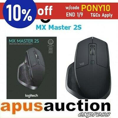 Logitech MX MASTER 2S Optical Ergonomic Bluetooth Wireless Mouse Graphite PC Mac
