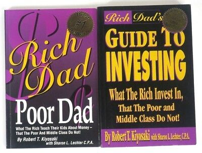 2 x Robert Kiyosaki Rich Dad Poor Dad and Guide To Investing