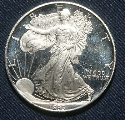"""1993-P $1 Silver Proof American Eagle 1 Oz Coin """"impaired""""  Lot 240807A"""