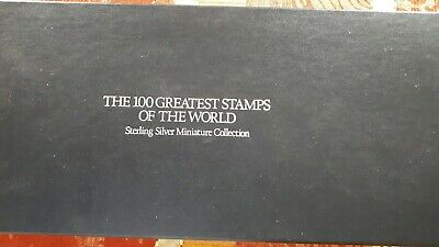 Briefmarken100 Greatest Stamps of The World Sterling Silver Miniature Collection
