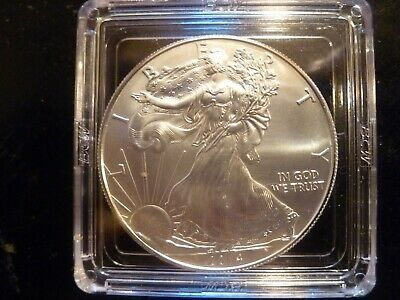 2014 Us American Eagle One Troy Ounce .999 Fine Silver-In Holder
