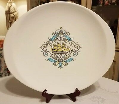 Oval Serving Platter - Voyager Stanhome by Canonsburg Pottery dura-gloss ship