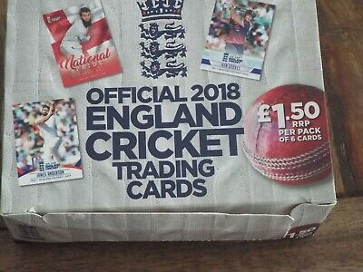 2018 England Cricket Trading Cards - National Pride