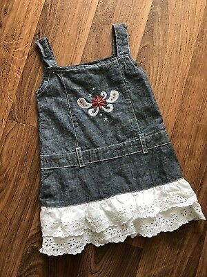 74d08564 Baby Wrangler Dress Jumper Lace 3-6 Month Denim Cowgirl Red White Blue  Patriotic